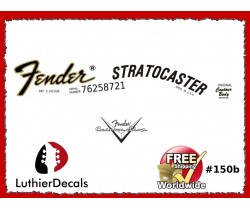 Fender Stratocaster Guitar Decal #150b