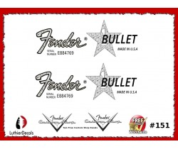Fender Bullet Guitar Decal Waterslide #151
