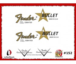 Fender Bullet Guitar Decal Waterslide #152