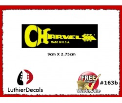 Charvel Guitar Decal Yellow #163b