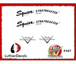 Squier Stratocaster Guitar Decal #167