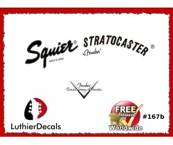 Squier Stratocaster Guitar Decal #167b