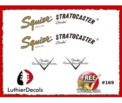 Squier Stratocaster Guitar Decal #169