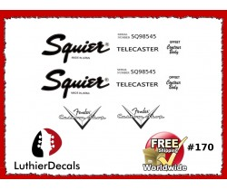 Squier Telecaster Guitar Decal #170
