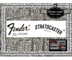 Fender Stratocaster Guitar Decal 18s