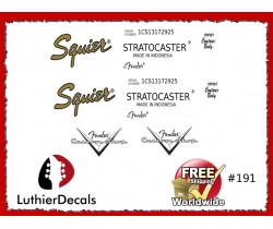 Fender Stratocaster Indonesia Guitar Decal 191