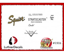 Fender Stratocaster Indonesia Guitar Decal 191b