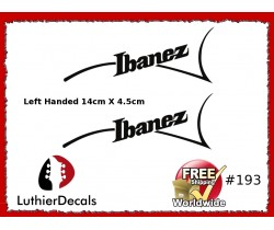 Ibanez Guitar Left Handed Decal #193