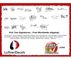 Guitar Players Signature Guitar Decal 199