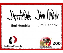 Guitar Players Jimi Hendrix Signature Guitar Decal 200
