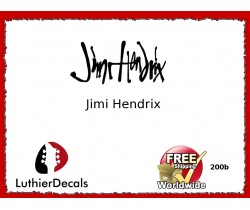 Guitar Players Jimi Hendrix Signature Guitar Decal 200b
