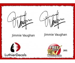Guitar Players Jimmie Vaughan Signature Guitar Decal 201