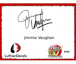 Guitar Players Jimmie Vaughan Signature Guitar Decal 201b
