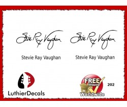 Guitar Players Stevie Ray Vaughan Signature Guitar Decal 202