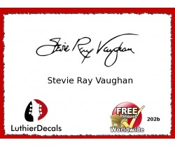 Guitar Players Stevie Ray Vaughan Signature Guitar Decal 202b
