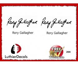 Guitar Players Rory Gallagher Signature Guitar Decal 204