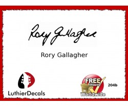 Guitar Players Rory Gallagher Signature Guitar Decal 204b