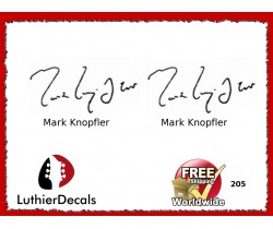 Guitar Players Mark Knopfler Signature Guitar Decal 205