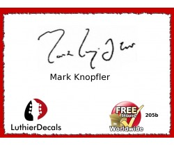 Guitar Players Mark Knopfler Signature Guitar Decal 205b