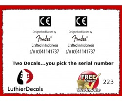 Crafted In Indonesia CE Serial Number Decal Kit #223