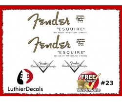 Fender Esquire Guitar Decal #23