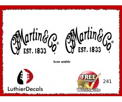 Martin & Co. Guitar Decal 241