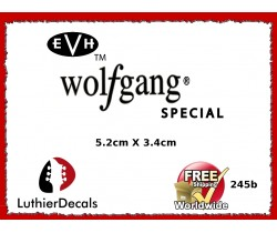 EVH Wolfgang Guitar Decal Headstock Waterslide 245b