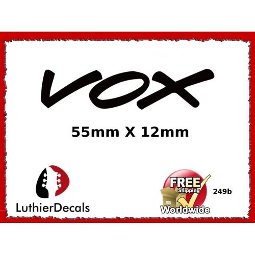 Guitar Decals Restoration Logos - Vox Guitar Decal 249b