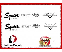 Squier Stratocaster Guitar Decal 251