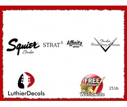 Squier Stratocaster Guitar Decal 251b