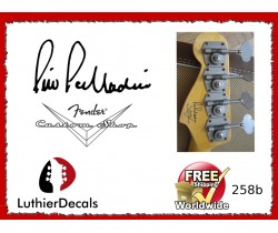 Pino Palladino Custom Shop guitar Decal 258b