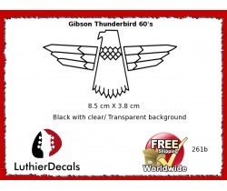 Gibson Thunderbird Firebird Guitar Decal 261b