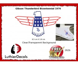 Gibson Thunderbird Firebird Guitar Decal 262b