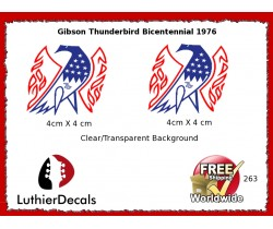 Gibson Thunderbird Firebird Guitar Decal 263