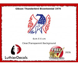 Gibson Thunderbird Firebird Guitar Decal 263b