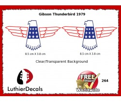Gibson Thunderbird Firebird Guitar Decal 264