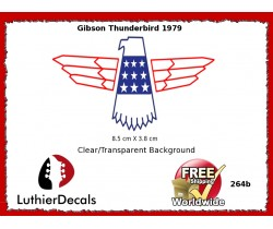 Gibson Thunderbird Firebird Guitar Decal 264b