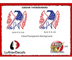 Gibson Thunderbird Firebird Guitar Decal 265