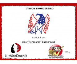 Gibson Thunderbird Firebird Guitar Decal 265b