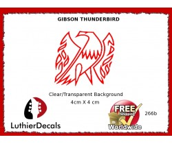 Gibson Thunderbird Firebird Guitar Decal 266b