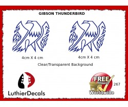 Gibson Thunderbird Firebird Guitar Decal 267