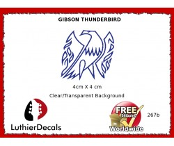 Gibson Thunderbird Firebird Guitar Decal 267b