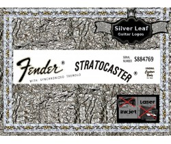 Fender Stratocaster Guitar Decal 26s