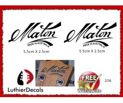Maton Made in Australia Guitar Decal 276