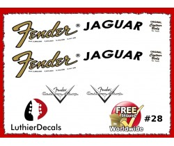 Fender Jaguar Guitar Decal #28