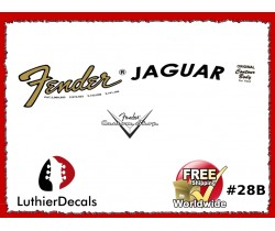Fender Jaguar Guitar Decal #28b