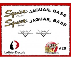 Fender Squier Jaguar Guitar Decal #29