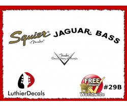 Fender Jaguar Guitar Decal #29b