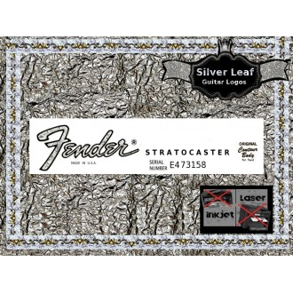 Fender Stratocaster Guitar Decal #37s