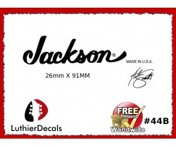 Jackson Decal Guitar White Decal #44b